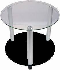 Table basse ronde plateau verre