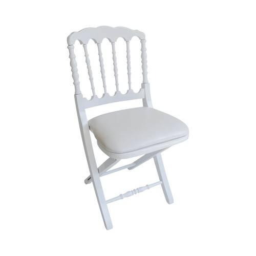 Chaise Napoléon III blanche