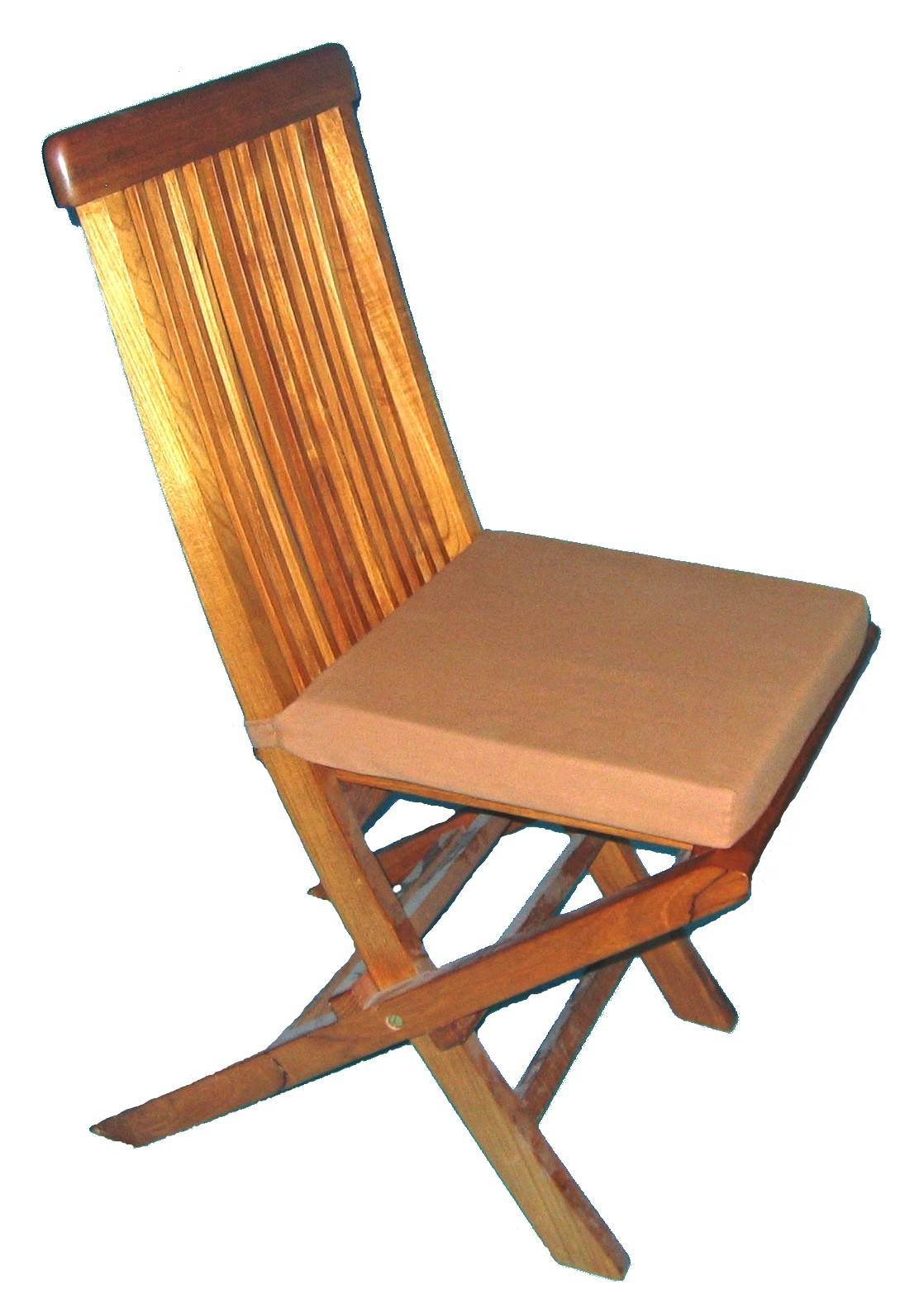 Chaise Teck avec coussin