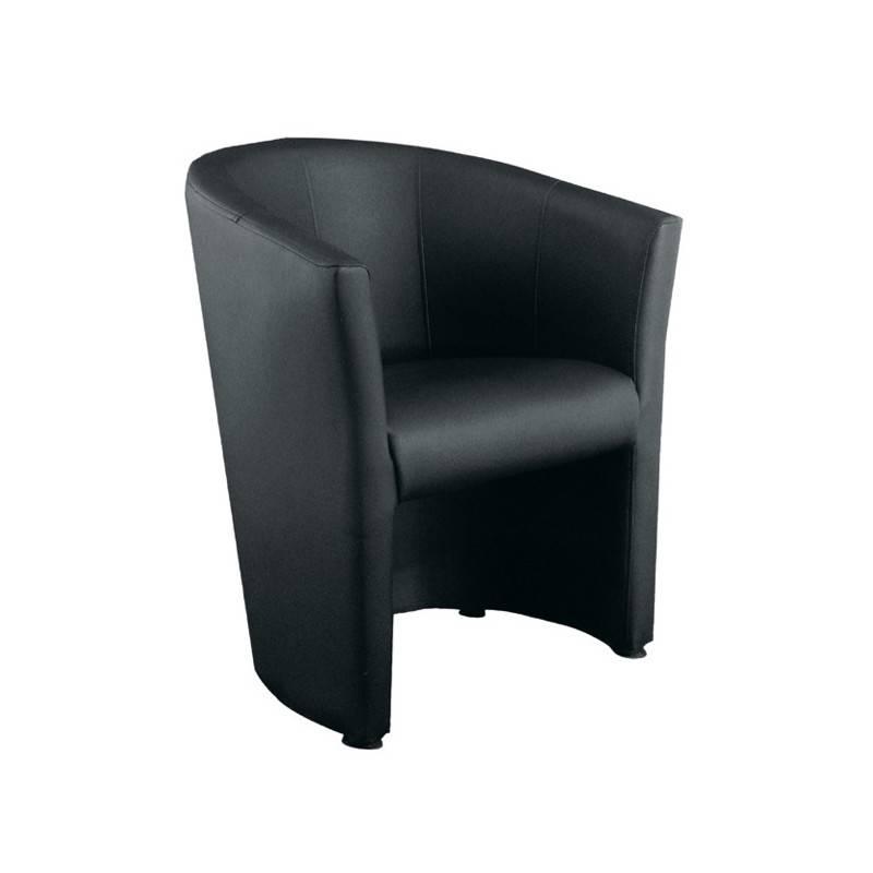 fauteuil rondo noir interloc. Black Bedroom Furniture Sets. Home Design Ideas